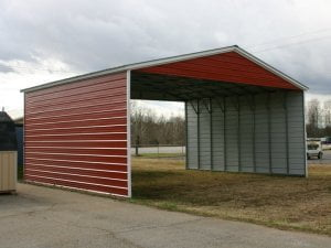 red single carport