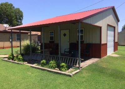 red welded steel home