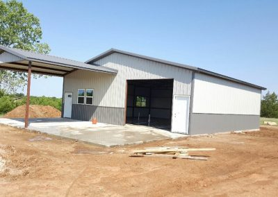 extended welded steel building