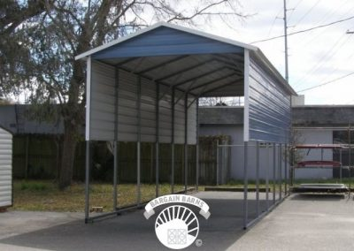 blue rv carport
